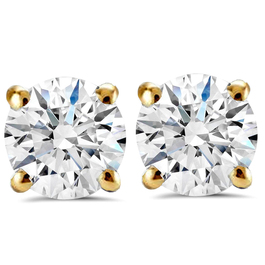 3/4 Ct TDW Lab Grown Diamond Studs 14K Yellow Gold (((G-H)), SI(1)-SI(2))