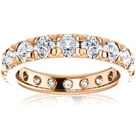 2ct Diamond Pave Set Eternity Wedding Ring 14k White Gold (I/J, I1-I2)