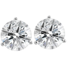 4.49 ctw 14k White Gold EX3 Lab Grown Diamond Martini Studs IGI Certified G/VS2 ((G), (VS2))