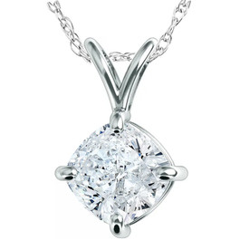 VS2/D 1.17Ct Radiant Cut Solitaire Lab Grown Diamond Pendant Gold IGI Certified ((D), (VS2))
