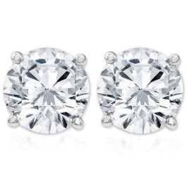 IGI Certified 1 1/4 cttw Diamond Studs 14K White Gold Earrings (KL, I2-I3)