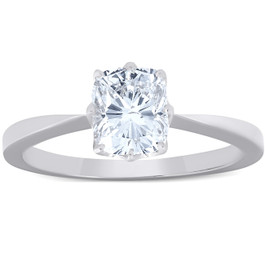 1 Ct Cushion Diamond Solitaire Engagement Ring 14k White Gold (G/H, SI1)