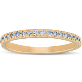 1/4 Ct Lab Grown Diamond EX3 Wedding Ring 10k Yellow Gold (((G-H)), I(1))
