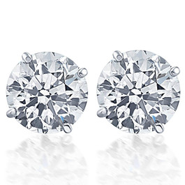 Screw Back 1 Ct T.W. Genuine Diamond Studs Available in 14k White or Yellow Gold (IJ, I2-I3)