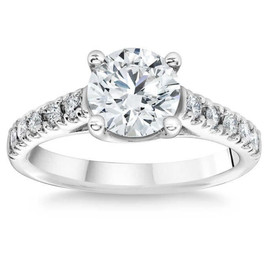 1 3/4 Ct Diamond Engagement Ring Lab Grown 14k White Gold (I/J, VS1-VS2)