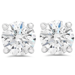 2 1/2Ct T.W. Lab Grown Diamond Screw Back 14k White Gold Studs (I-J, VS1-VS2)