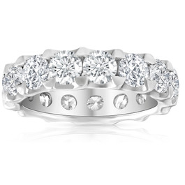 5 Ct Moissanite Eternity Ring in 10k White, Yellow, or Rose Gold