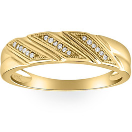 1/5ct Mens Diamond Ring 10K Yellow Gold (G/H, I1-I2)
