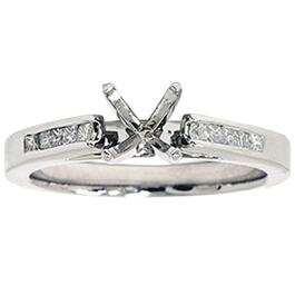 1/3ct Princess Cut Diamond Semi Mount Engagement Ring 14K White Ring (G/H, I1)