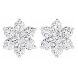 1/2 Ct Diamond 7-Stone Studs 14k White Gold Women's Earrings (H-I, I2)