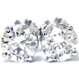 1/2Ct TDW Diamond Studs 14K White Gold (I-J, I2/I3)