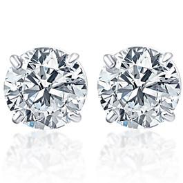 1/4ct VS Quality Round Brilliant Cut Natural Diamond Stud Earrings In Solid 950 Platinum (F, VS)