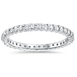 5/8ct Diamond Eternity Wedding Ring 14K White Gold (F/G, SI1)
