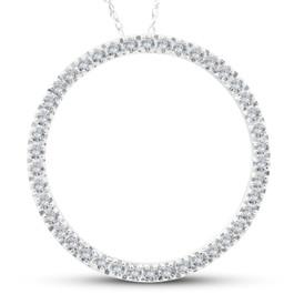 5/8Ct Circle Of Life Round Diamond Pendant 10K White Gold (H-I, i2-I3)