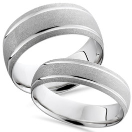 His And Hers Matching Wedding Band Sets Free Shipping