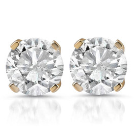 1 1/4ct Diamond Studs 14K Yellow Gold (G/H, SI2/SI3)