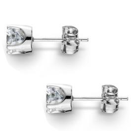 1.00Ct Round Brilliant Cut Natural Diamond Stud