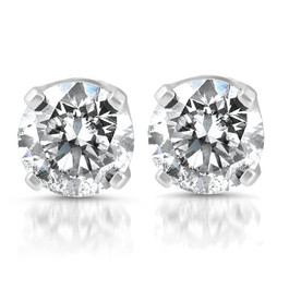 1/4ct Diamond Stud Earrings 14K White Gold (G/H, SI2-SI3)