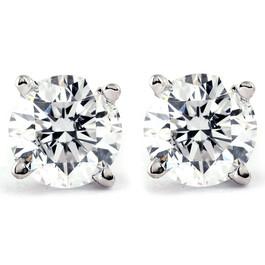 Platinum 1/2ct Diamond Studs (F, VS)