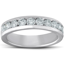 Platinum 1ct Channel Set Diamond Wedding Ring (G/H, SI)