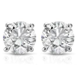 1 cttw Diamond Studs 14K White Gold (I-J, I2-I3)