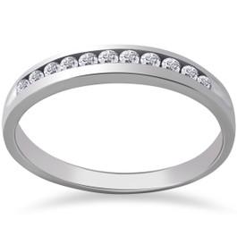 1/2 ct Caitlyn Lab Grown Diamond Wedding Ring 14k White Gold (F, VS)
