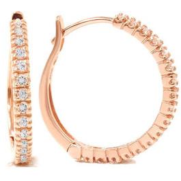 1/2ct Diamond Hoops 14K Rose Gold (G/H, I2)
