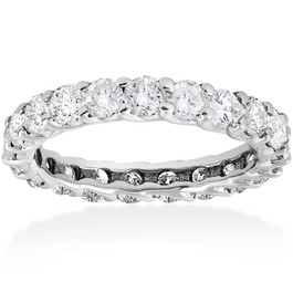 3ct Trellis Diamond Eternity Wedding Ring 14K White Gold (I/J, I2-I3)