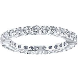 1 1/3CT Diamond Eternity Wedding Ring 14K White Gold (H/I, I1-I2)