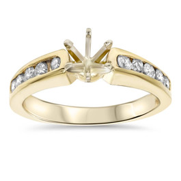1/2ct Diamond Semi Mount Engagement Ring Setting Gold (G/H, I1)