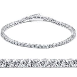 G VS 3ct Diamond Tennis Bracelet 14K White Gold Round Brilliant Cut 7 Inches (G/H, SI)
