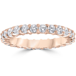 1ct Diamond Eternity Ring 14k Rose Gold ((G-H), SI)