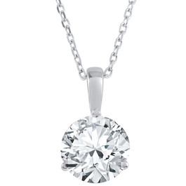 2 ct Solitaire Lab Grown Diamond Pendant available in 14K and Platinum (F, SI1-SI2)