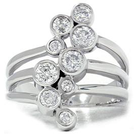 1ct Diamond Journey Ring 14K White Gold (G/H, SI3)