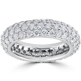 2 1/6ct Pave Diamond Eternity Wedding Anniversary Ring 14k White Gold (G, SI1)
