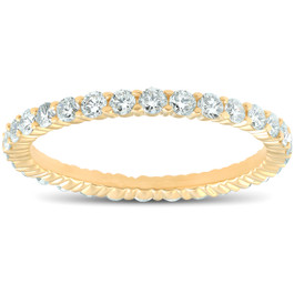 1ct Diamond Eternity Ring 14K Yellow Gold (G/H, I2)