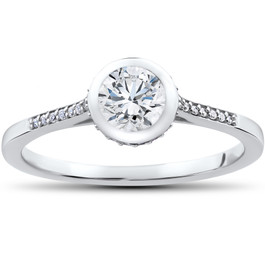 5/8 ct Lab Grown Diamond Aria Engagement Ring 14k White Gold (F, VS/SI)