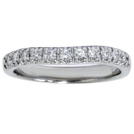 White Gold 1/4ct Diamond Curved Wedding 14K New Ring (G/H, I1)