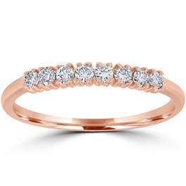 Diamond Wedding Ring 14K Rose Gold (G-H, I1)