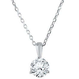3/8 ct Solitaire Lab Grown Diamond Pendant available in 14K and Platinum (F, SI1-SI2)