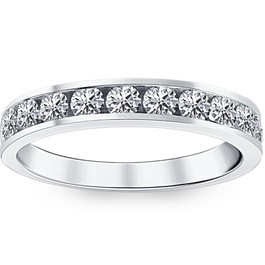 1ct Diamond Wedding Ring 14K White Gold (G/H, I1)