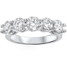 2ct Real Round Solitaire Diamond Wedding Anniversary 14K White Gold Ring (G/H, I1)