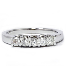 White Gold 1/2ct 14K Diamond Wedding Guard Ring New (G/H, I1)