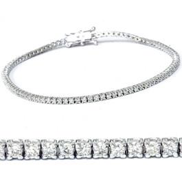 """2ct Diamond Tennis Bracelet 14K White Gold 7"""" (G/H, I1)"""