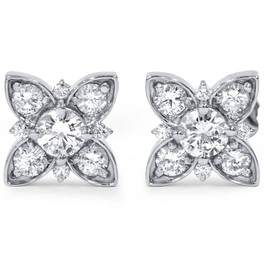 1ct Lab Grown Created Diamond Studs Womens Earring 14K White Gold (F, VS)