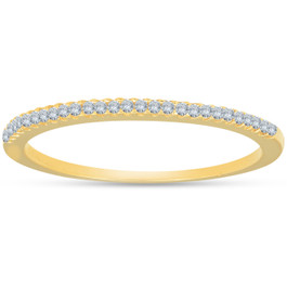 1/10ct Diamond Wedding Ring 14k Yellow Gold (I/J, I2-I3)