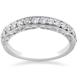 1/2 ct Vivian Lab Created Diamond Wedding Ring 14k White Gold (F, VS/SI)