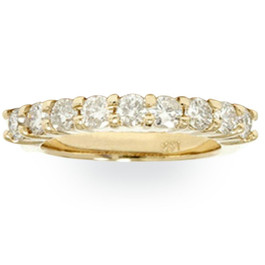 1ct Diamond Wedding Ring 14K Yellow Gold Ring Band (G/H, I1)