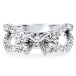 1 1/5Ct Diamond Engagement Ring Setting 14K White Gold (H/I, I1-I2)