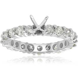 2ct Diamond Eternity Semi Mount Engagement Ring 14K White Ring (G/H, I1)